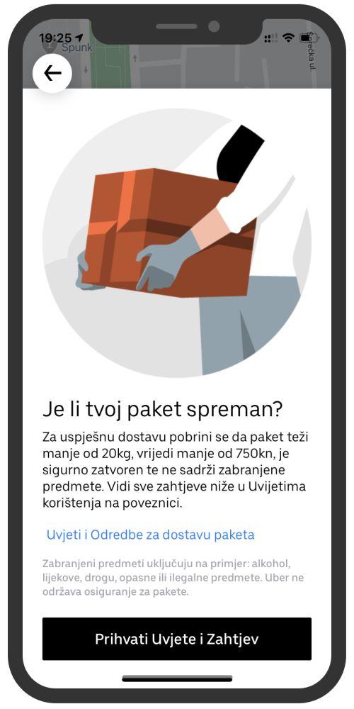 Uber u Hrvatskoj lansirao Uber Connect uslugu dostave paketa