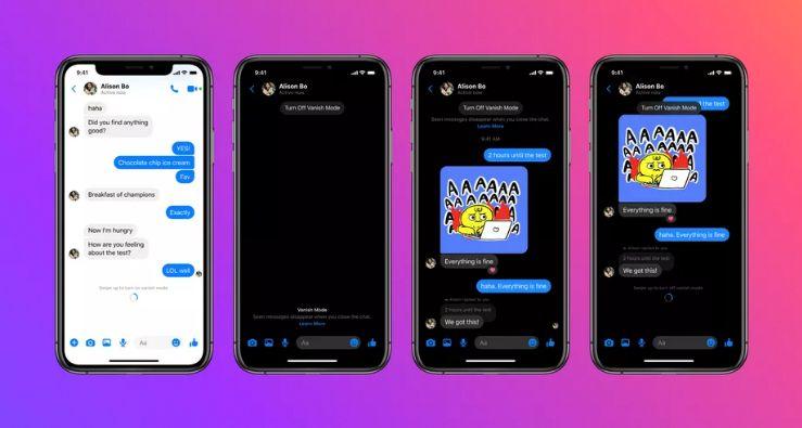 Facebookov Vanish Mode na Messengeru