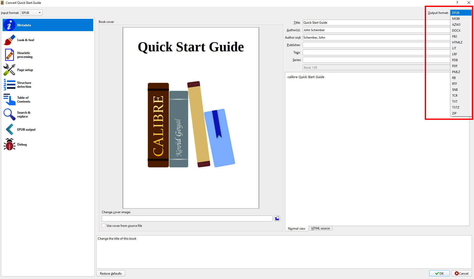 Comment convertir un fichier PDF en fichier EPUB