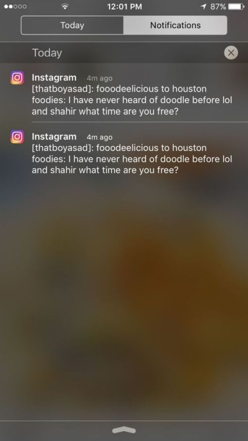 Instagram notifikacije
