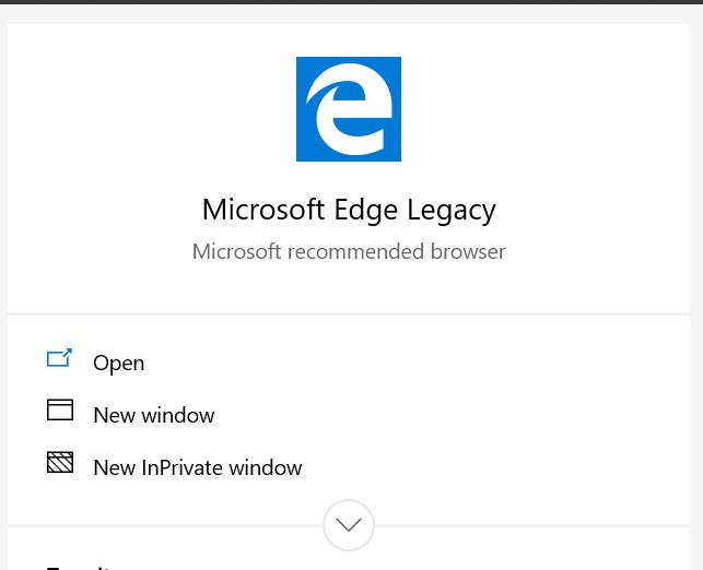 Legacy Microsoft Edge