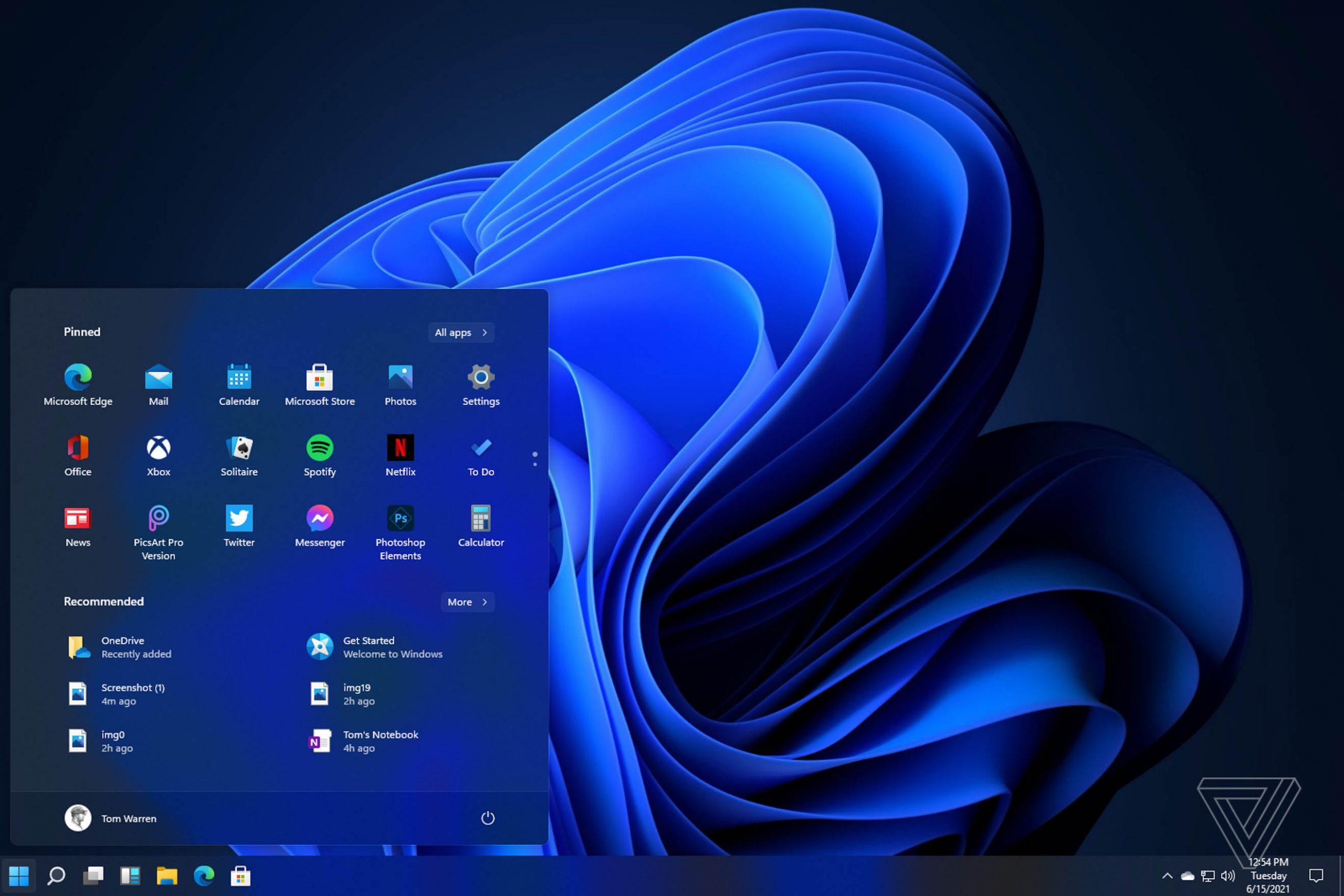 windows 11 taskbar