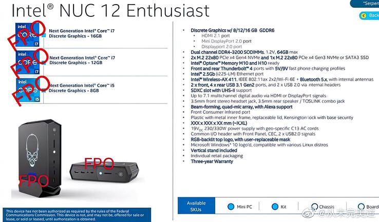 Intel NUC 12 Enthusiast