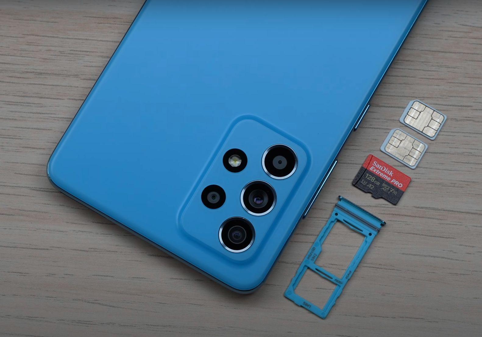 Samsung Galaxy A52 micro SD